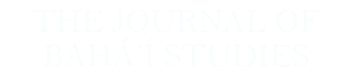 The Journal of Baha'i Studies